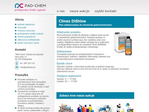 Szablon aukcji - PAD-CHEM