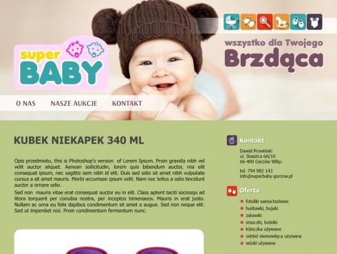 Szablon aukcji Allegro - Super BABY