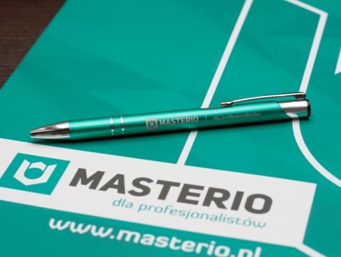 Metalowy długopis z grawerowanym logo Masterio