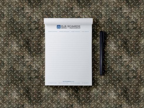 Wizualizacja notesu formatu A6