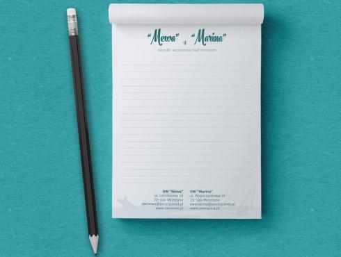Wizualizacja notesu formatu A6 z nadrukiem