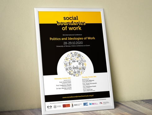 Plakat promujący V konferencję Social Boundaries of Work