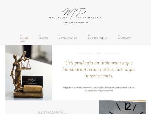 Strona internetowa - zrzut ekranu