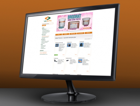 strona internetowa Vespa DDD
