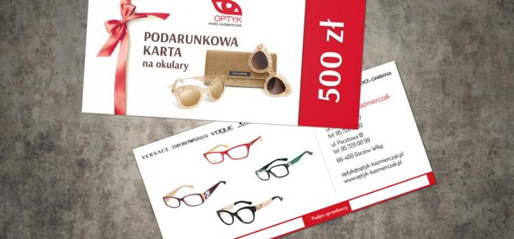 Optyk Paweł Kaźmierczak - karta podarunkowa