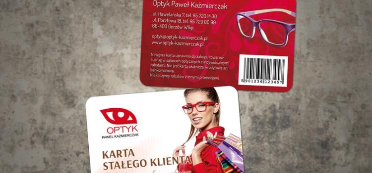 Karta stałego klienta, karta rabatowa - Optyk Paweł Kaźmierczak