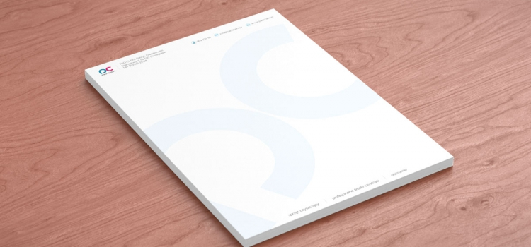 Wizualizacja projektu papieru firmowego