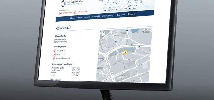 Gabinet Okulistyczny Marzena Zaskórska - strona internetowa