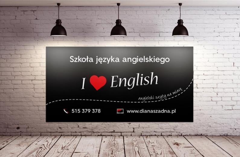 Szkoła Języka Angielskiego - baner wielkoformatowy