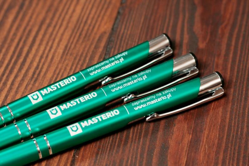Metalowe długopisy z grawerowanym logo Masterio