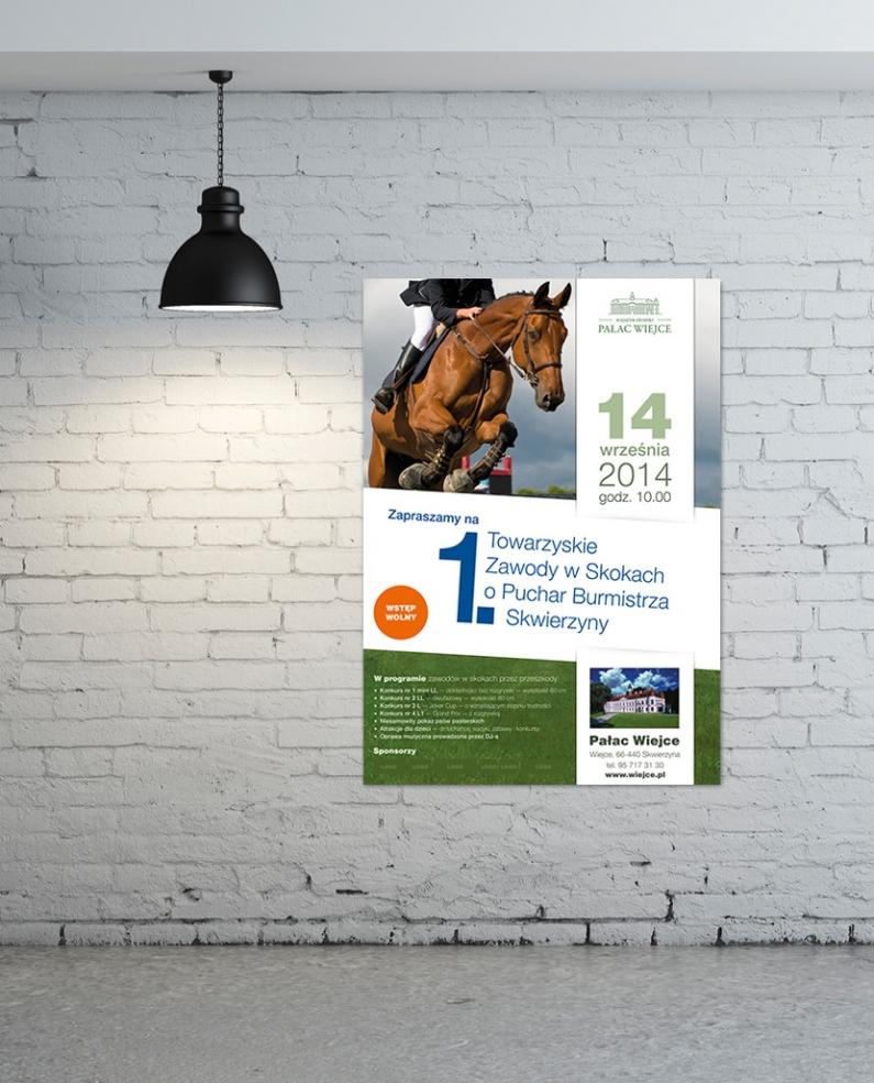 Projekt plakatu dla Pałacu Wiejce