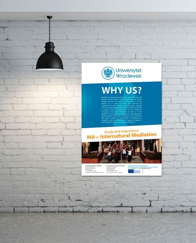 Plakat promujący Uniwersytet Wrocławski