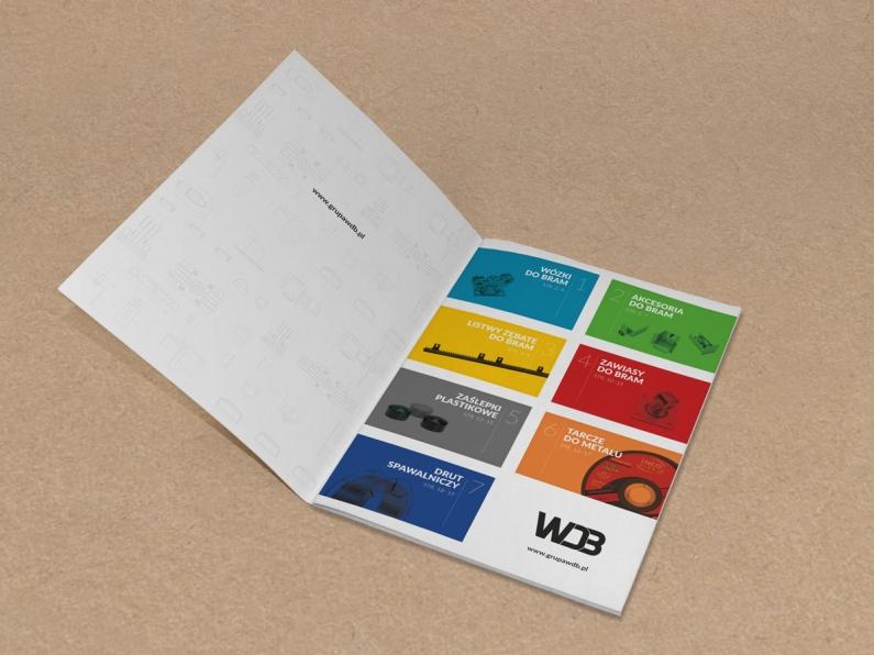 Wizualizacja projektu graficznego katalogu