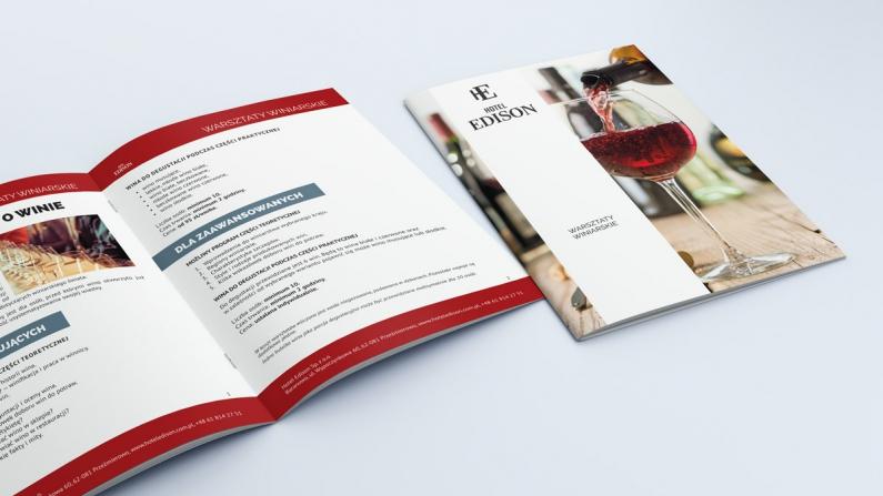 Wizualizacja projektu katalogu z ofertą hotelu