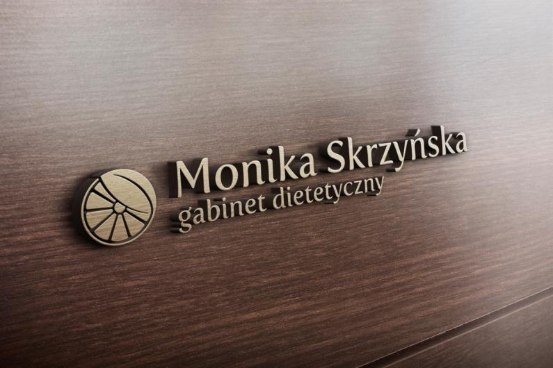 Logo Monika Skrzyńska gabinet dietetyczny - wizualizacja