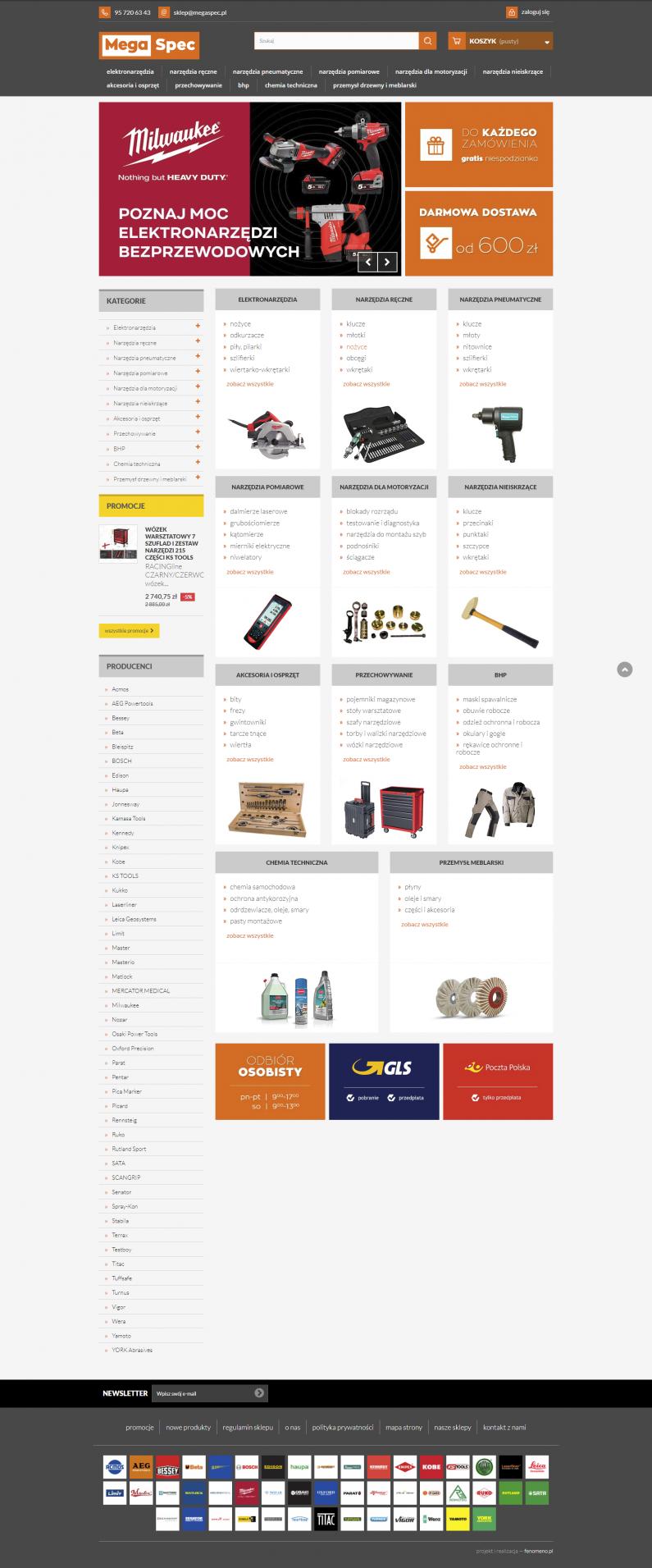 sklep internetowy megaspec.pl - strona główna