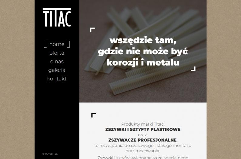 Zrzut ekranu - strona internetowa titac.pl - home