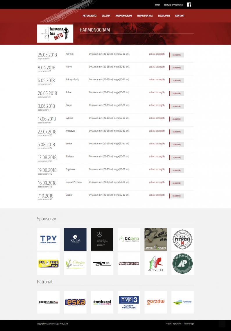 Projekt strony internetowej - harmonogram