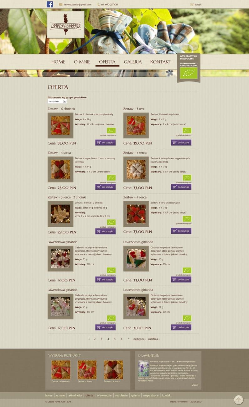 Lawendziarnia - Oferta