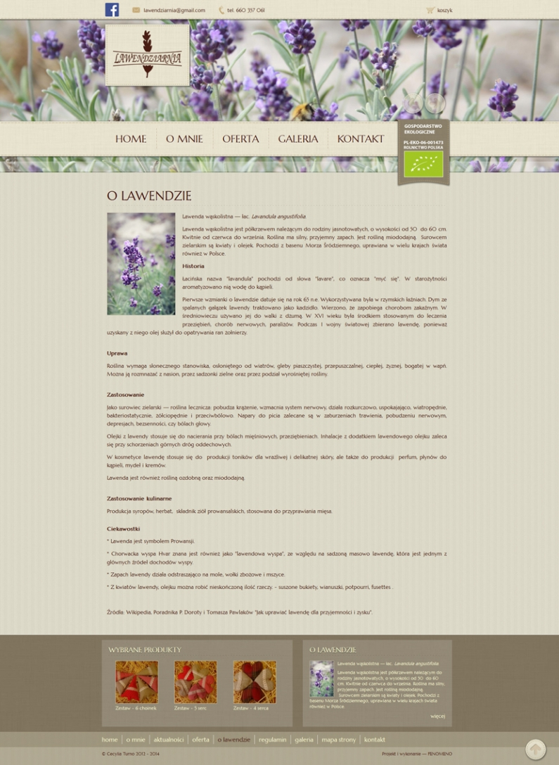 Lawendziarnia - O lawendzie