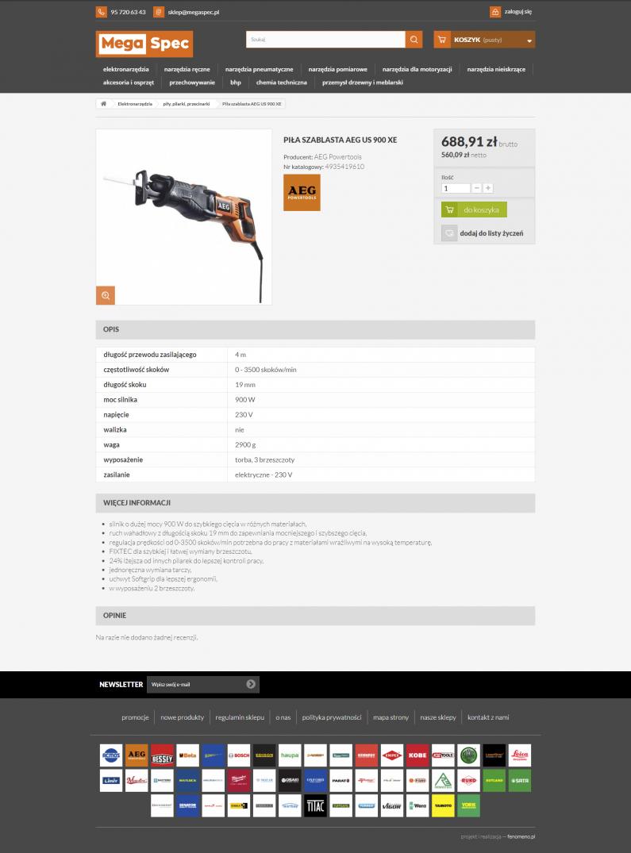 Sklep internetowy megaspec.pl - kartoteka produktu