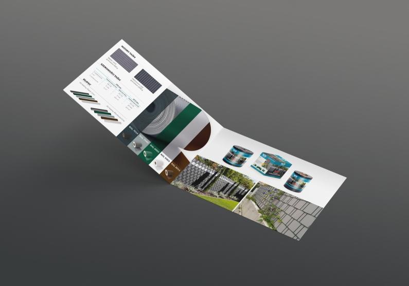 Wizualizacja ulotki składanej w formacie a5 - strony wewnętrzne