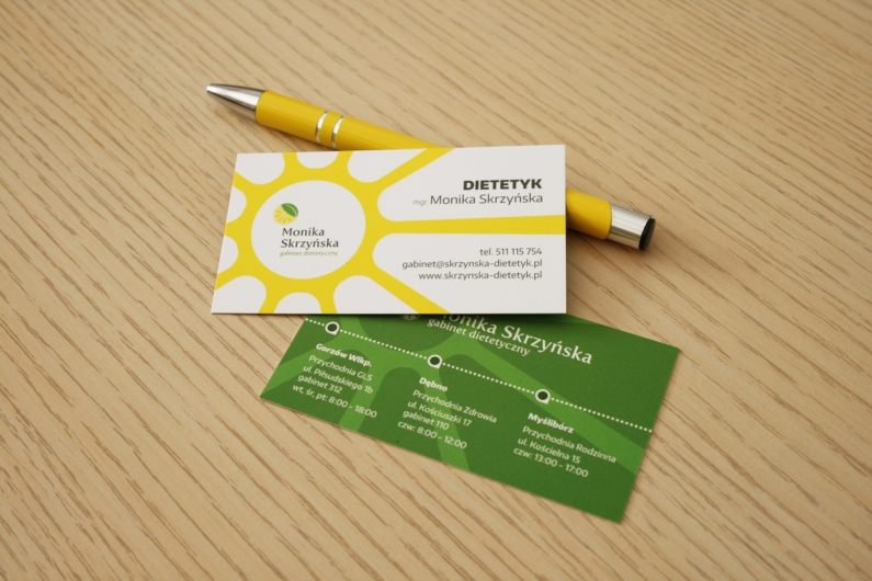 Wizytówki i długopis