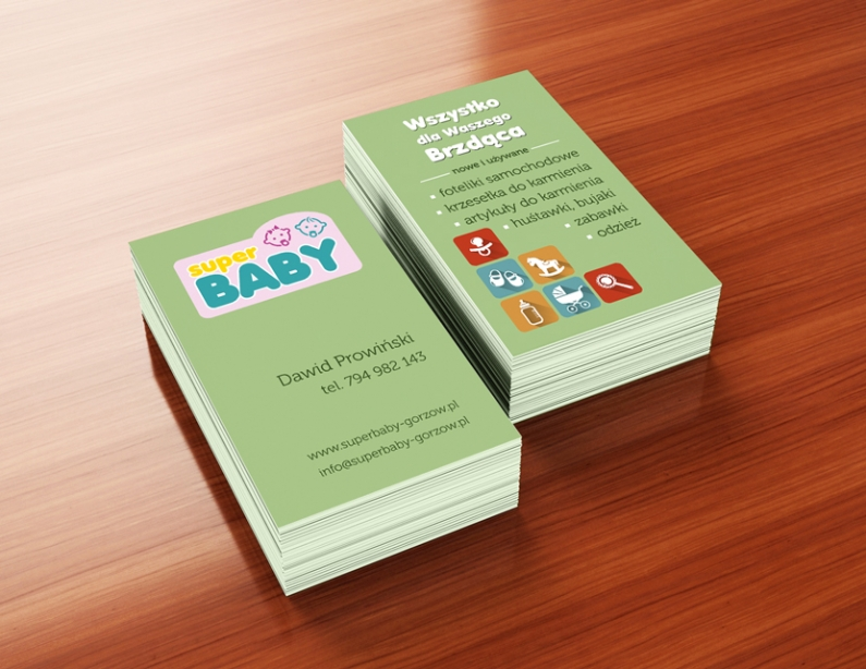 wizytówki Super BABY