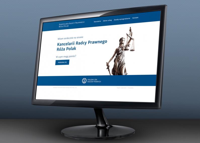 Strona internetowa radcy prawnego - strona główna