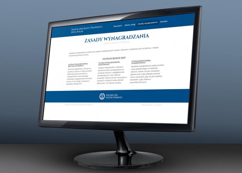 Strona internetowa radcy prawnego - podstrona oferty